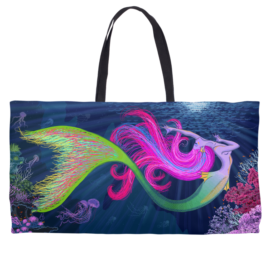 Mermaid Meditation Weekender Tote