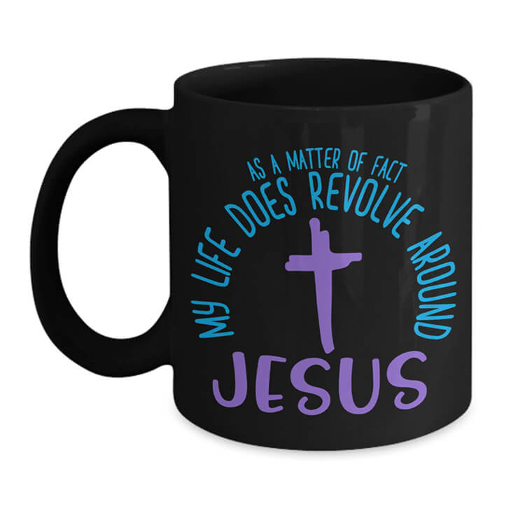 Around Jesus Mug - Black
