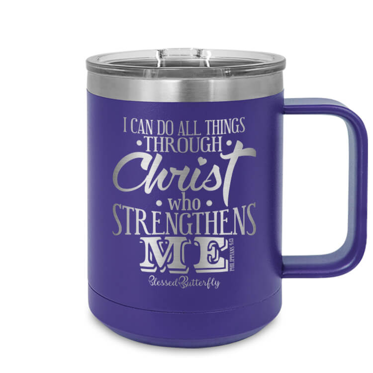 Christ Who Strengthens Me Etched Ringneck Mug