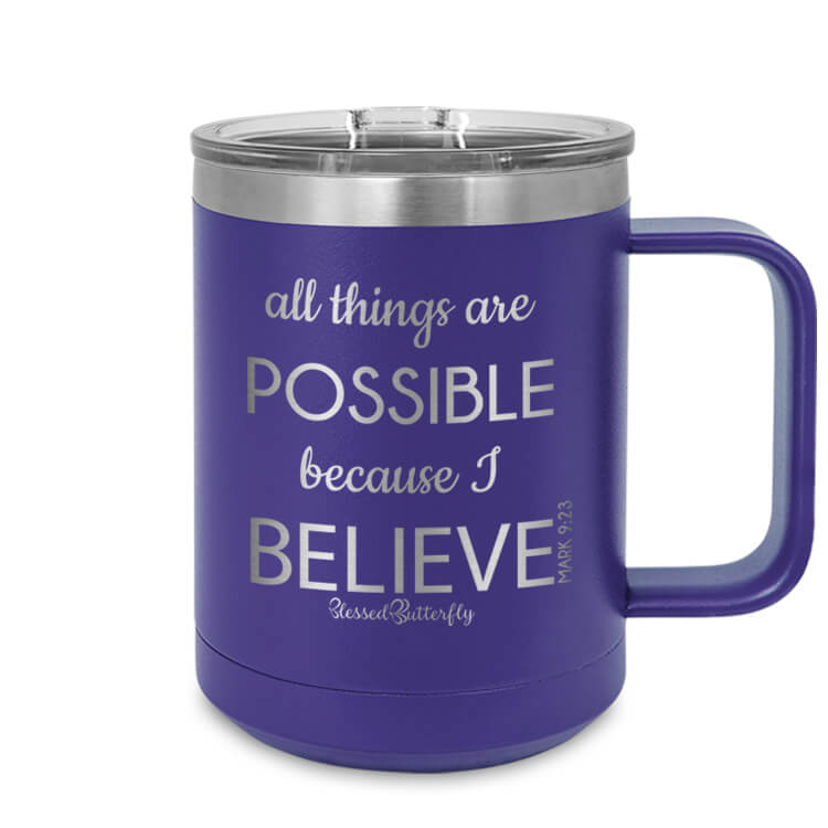 All Things Are Possible Etched Ringneck Mug