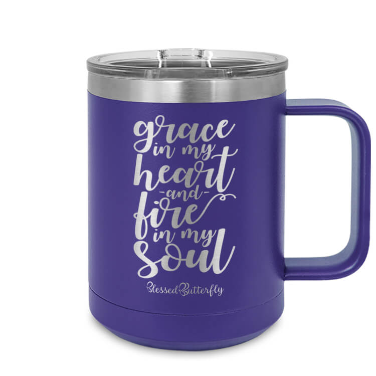 Grace And Fire Etched Ringneck Mug
