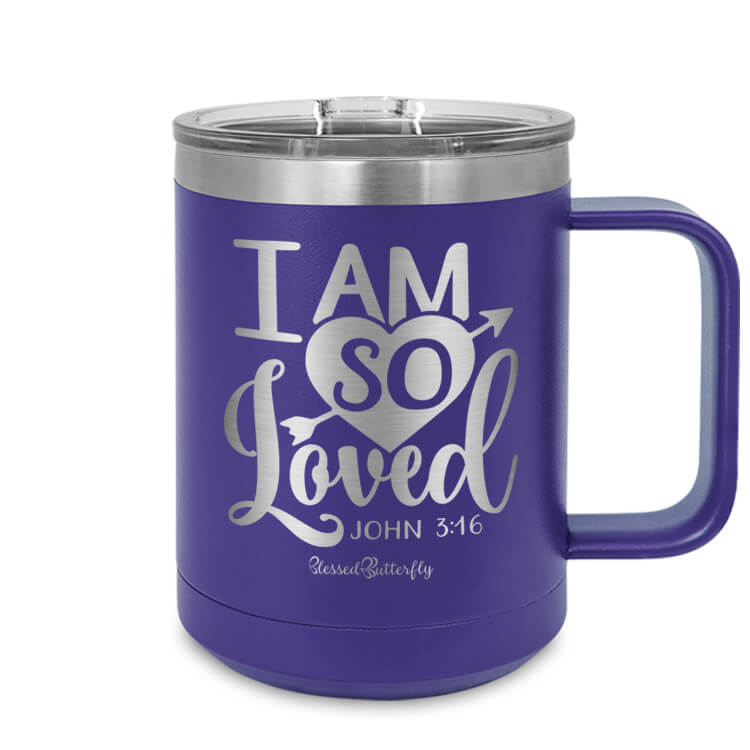 I Am So Loved John 3:16 Etched Ringneck Mug