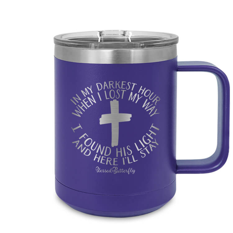 In My Darkest Hour Etched Ringneck Mug