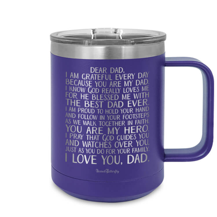 Dear Dad Etched Ringneck Mug