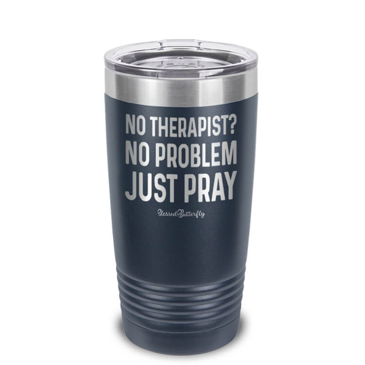 No Therapist Etched Ringneck Tumbler