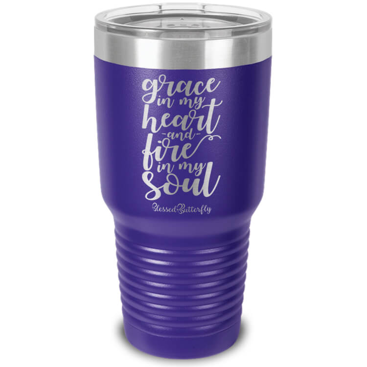 Grace And Fire Etched Ringneck Tumbler