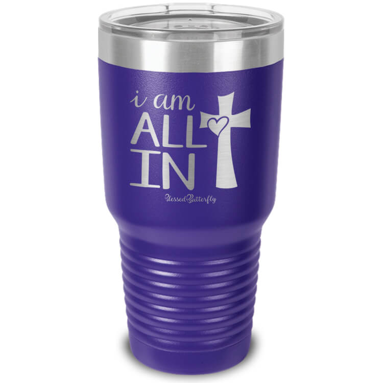 All In Etched Ringneck Tumbler