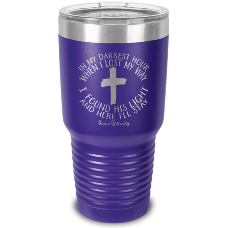 In My Darkest Hour Etched Ringneck Tumbler