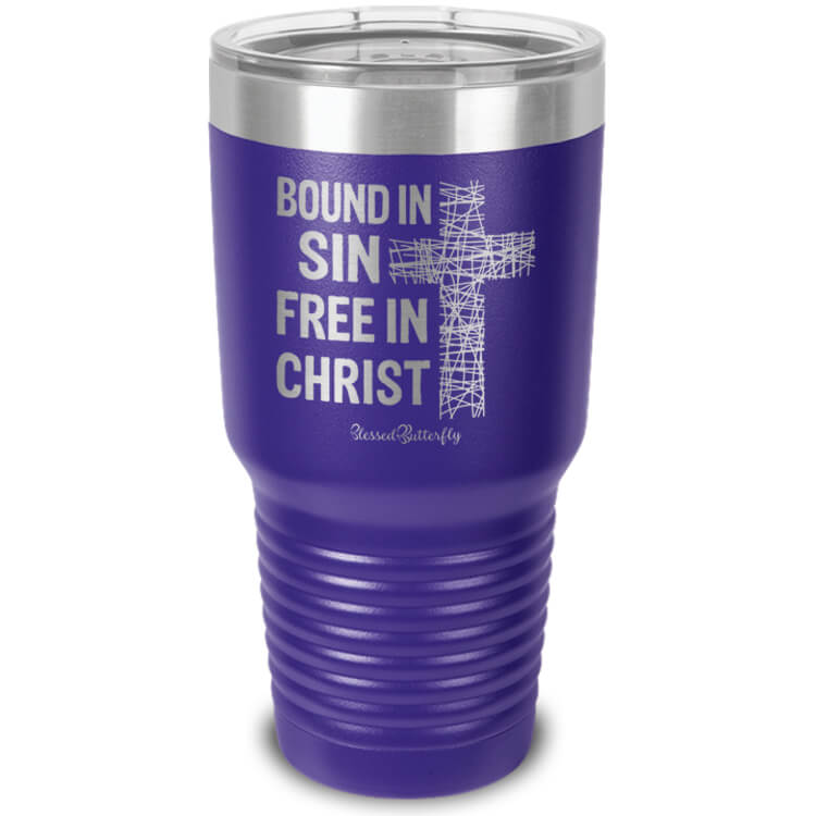 Bound In Sin Etched Ringneck Tumbler