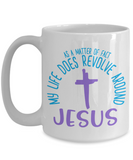 Around Jesus Mug - White