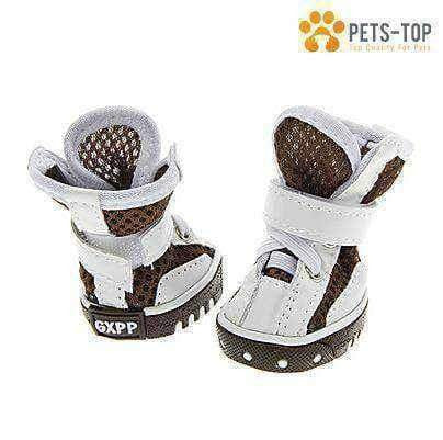Chaussures Chien Boots Blanches