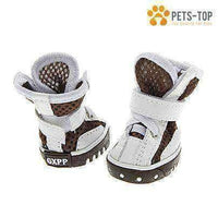 Chaussures Chien Boots Blanches - One PETS-TOP