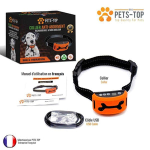 Collier Anti Aboiement Rechargeable Son & Vibration - One PETS-TOP