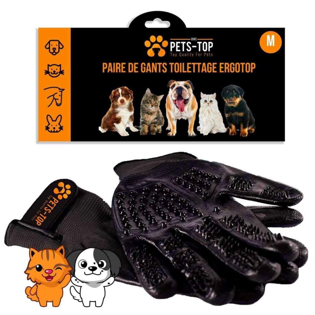 Gant Poils Chat Chien Toilettage Massage - One PETS-TOP
