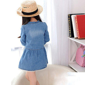 Lace Denim Dress