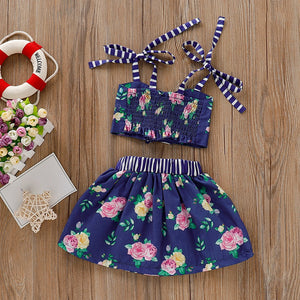Floral Print Sister Matching Outfit