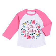Big Sister / Little Sister Floral Wreath Long sleeves