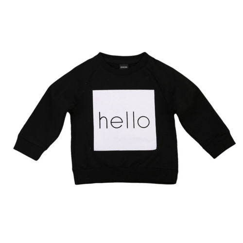 HELLO Sweatshirt sweatshirt - Small Fry Supply