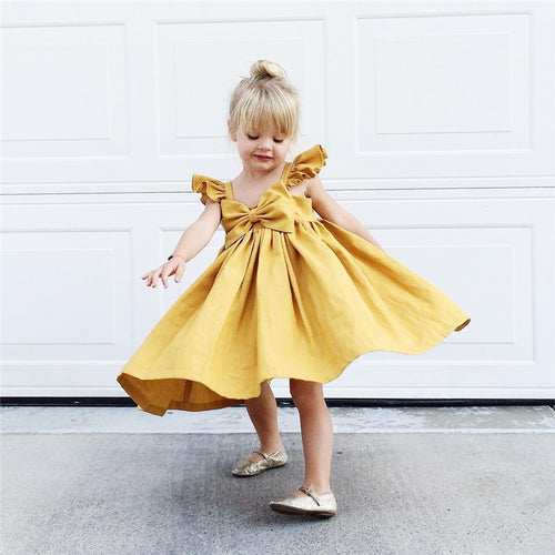 Bebe Bow Dress Dress - Small Fry Supply