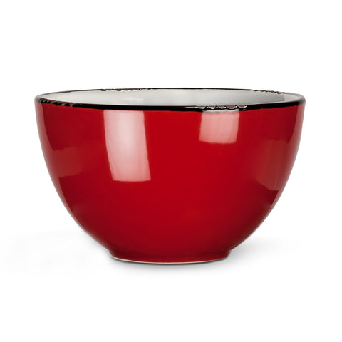 Enamel Look Bowl - Red