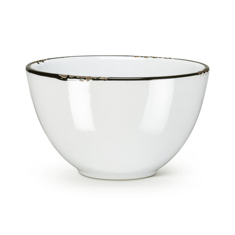 Enamel Look Bowl - White