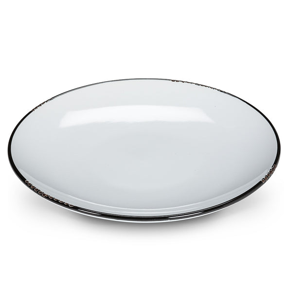 Enamel Look Small Plate - White