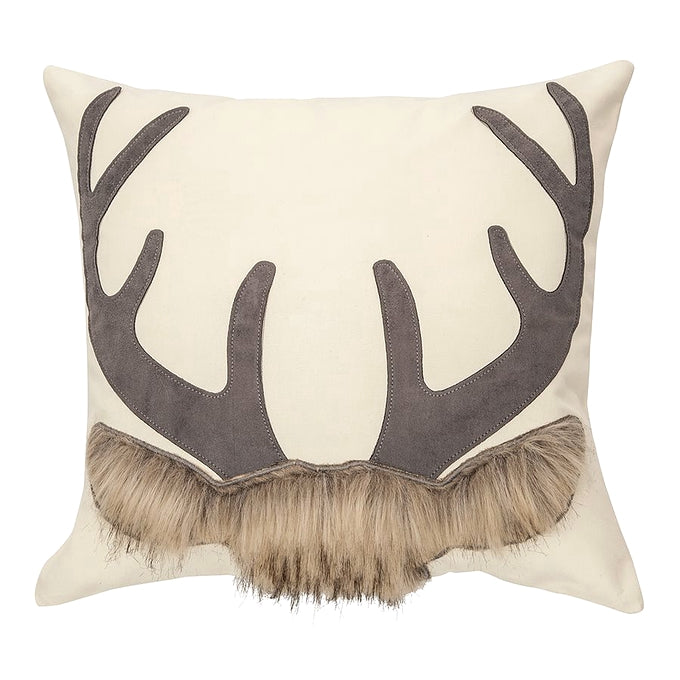 Deer & Antler Cushion