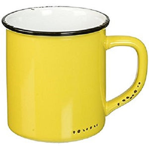 Enamel Look Mug - Yellow