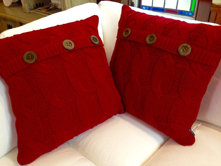 Red Sweater Toss Cushion