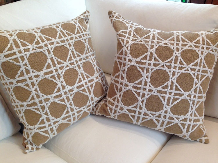 Ivory Weave Toss Cushion