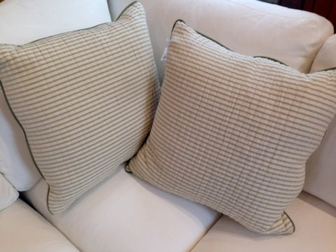 Sage Stripe Toss Cushion