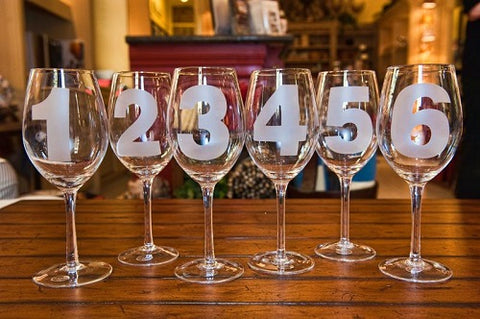Numbered Wine Goblets