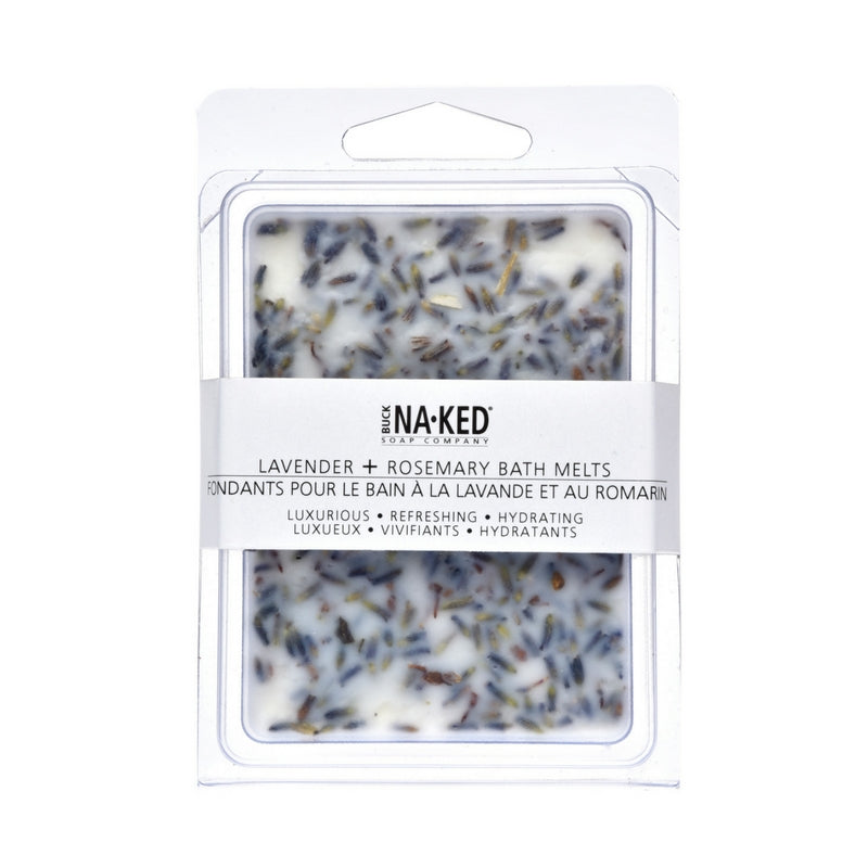 Lavender + Rosemary Bath Melts - Buck Naked Soap Company Inc