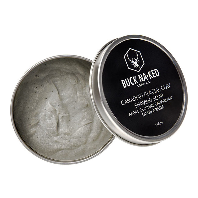 Canadian Glacial Clay Shaving Soap - Buck Naked Soap Company Inc