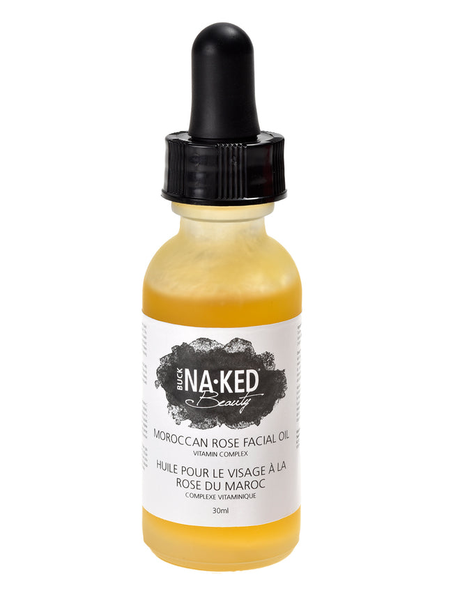 Moroccan Rose Facial Oil: Vitamin Complex - Buck Naked Soap Company Inc