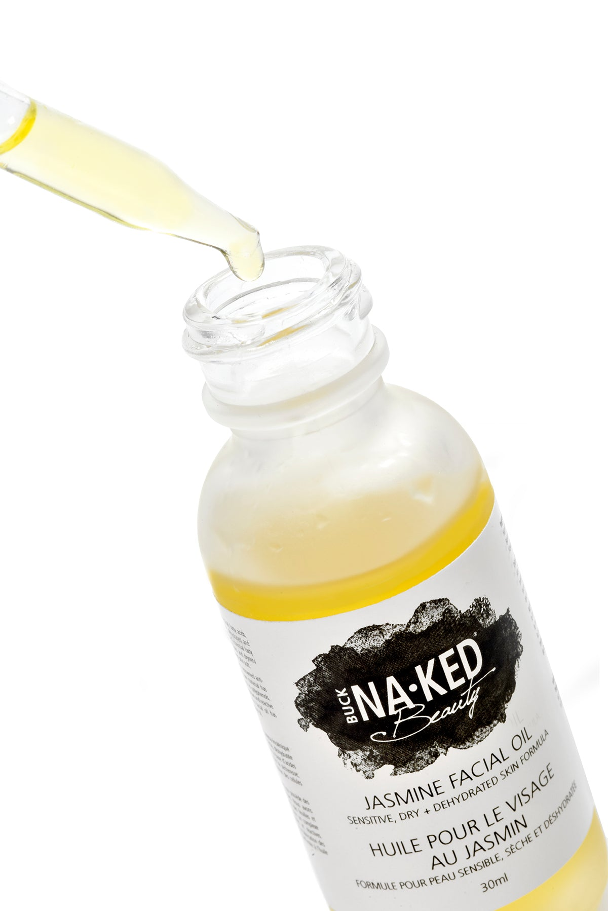 Jasmine Facial Oil: Sensitive, Dry + Dehydrated Skin Formula - Buck Naked Soap Company Inc