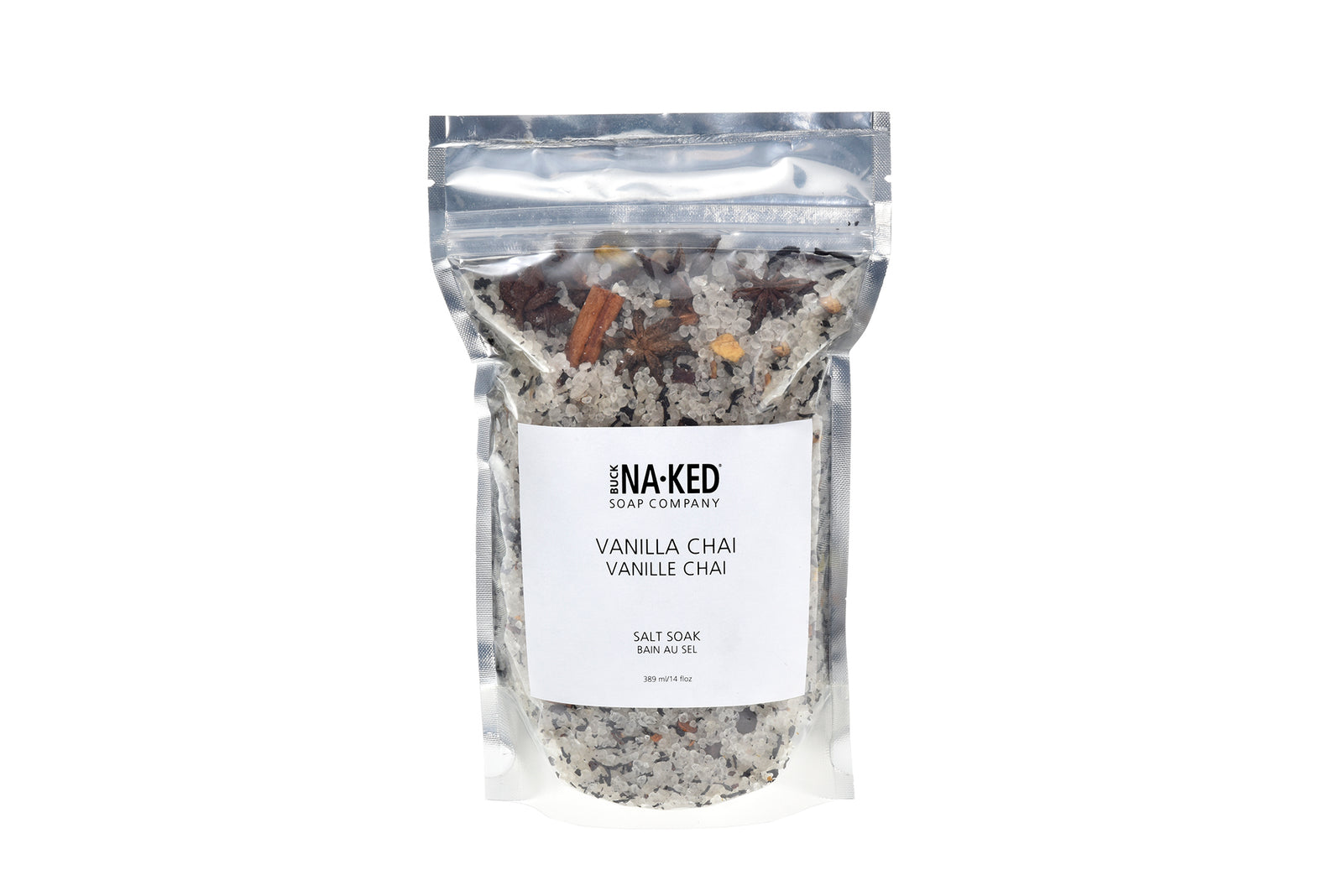 vailla chai dead sea bath salt in a bag