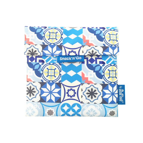 Snack'n'Go Reusable Snack Bag - Patchwork Blue