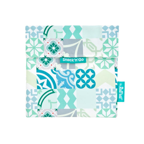 Snack'n'Go Reusable Snack Bag - Patchwork Green