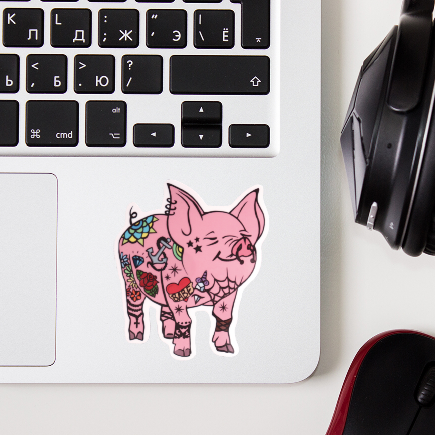 Tattooed Piggy // That'll do pig // STICKER
