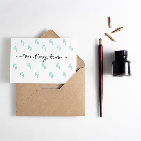 Ten Tiny Toes (Mint) - Card