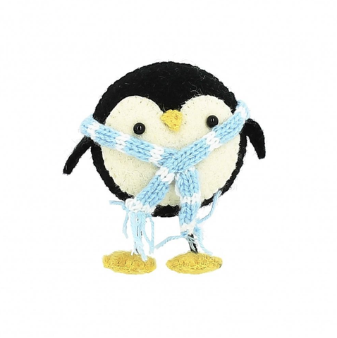 Standing Christmas Penguin with Scarf