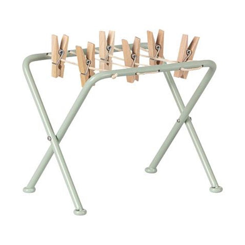 Maileg Clothes Drying Rack with Pegs