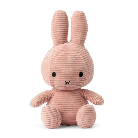 Extra Large Corduroy Sitting Miffy - Pink