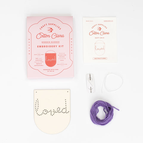 Loved Embroidery Banner Kit