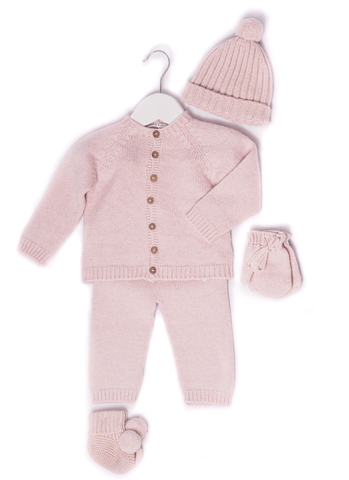 Knitted  Dusky Rose Winter Suit