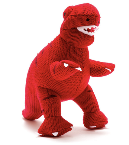 Knitted Red T Rex