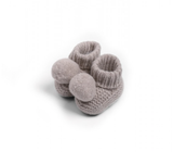 Knitted  Pom Pom Booties