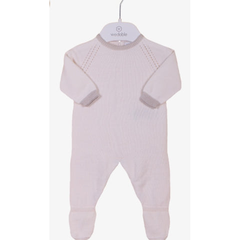 Premature Baby Fine Knit 'Mother's Love' Babygrow