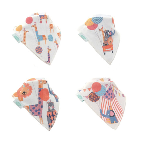 Dribble Bib 4 Pack 'Big Day Out'